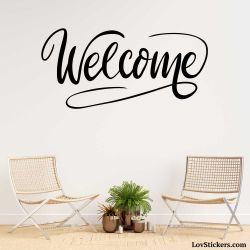 Stickers Calligraphie Welcome - Modèle No 01