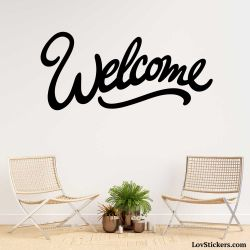 Stickers Calligraphie Welcome - Modèle No 04