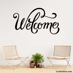 Stickers Calligraphie Welcome - Modèle No 05