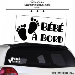 Sticker Bébé à Bord avec pieds
