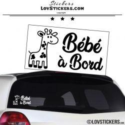 Sticker Bébé à Bord avec girafe
