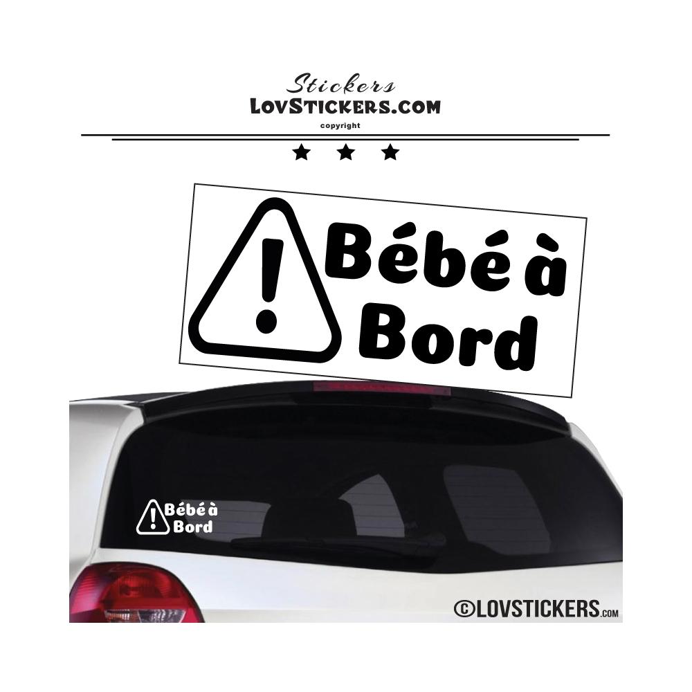 Stickers bébé à bord avec panneau danger