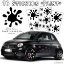 16 Stickers Tache de Peinture - Deco auto voiture