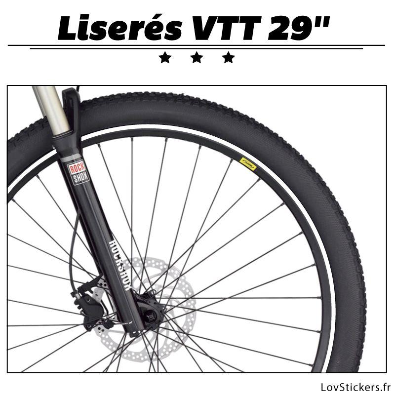 Liseret pour VTT 29 pouces - Kit de liseret pour la décoration des roues de VTT.