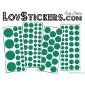 116 Stickers Ronds Mixte - Autocollant Décoration intérieur maison