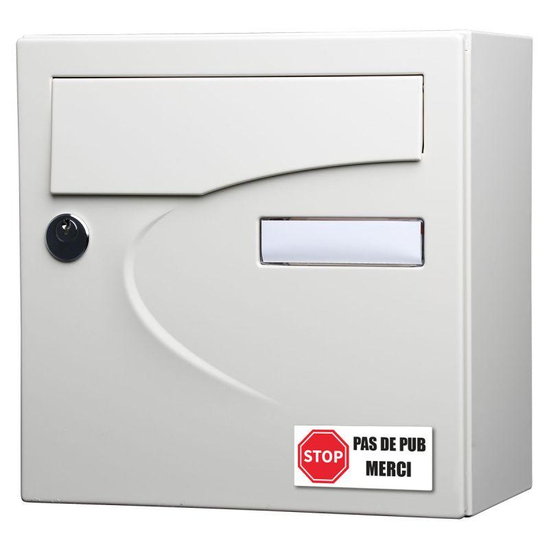 Stickers Stop Pub 8 cm - Lot de 2