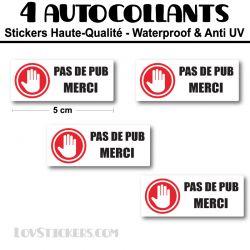 Stickers Stop Publicité 5 cm