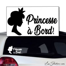 Sticker Princesse à Bord !