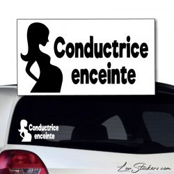 Sticker Conductrice Enceinte 02