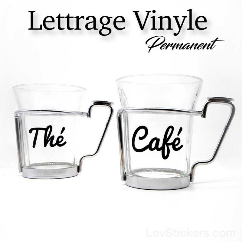 Lettrage Vinyle Colle Permanente - Sticker 19 couleurs