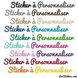 Lettrage Vinyle Permanent - 19 Couleurs de Stickers