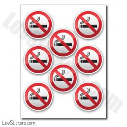 Autocollant de signalisation interdit de fumer