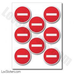 Stickers Accès Interdit - 7 tailles disponibles - Autocollant de signalisation
