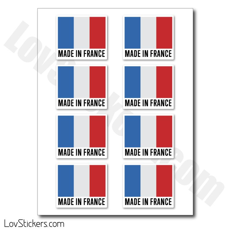 Stickers Made in France - Etiquettes