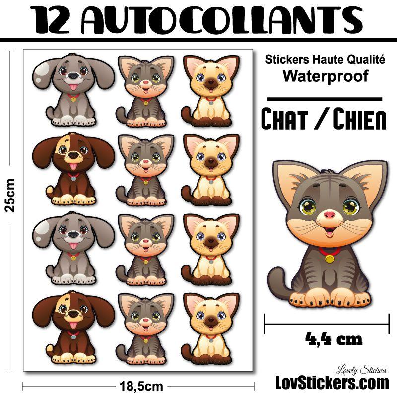 Chat et Chien mignon en 2 versions