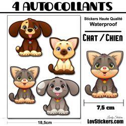 Chat et Chien mignon Kit de 4