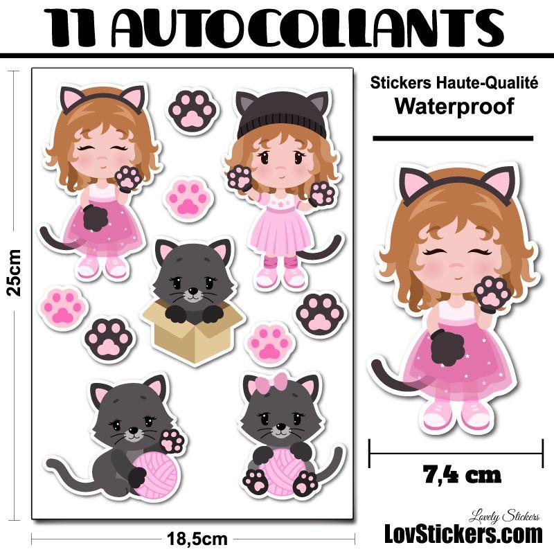9 stickers de chats
