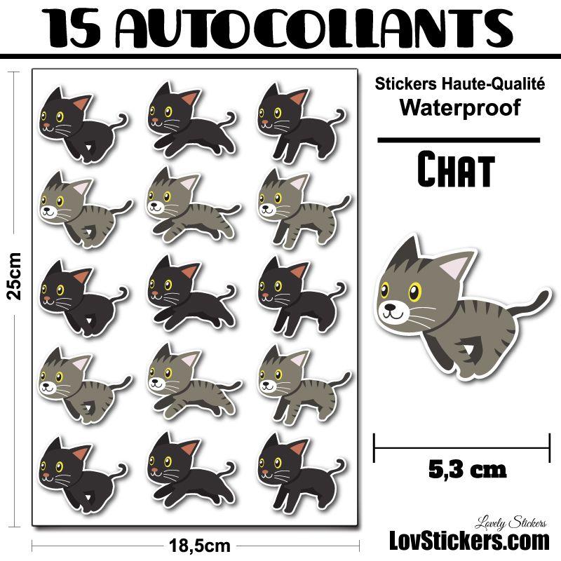 15 stickers de Chats qui sautent