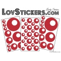 44 Stickers de decoration style année 80 pop art - Sticker mural