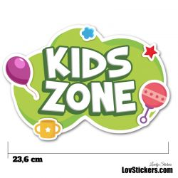 Stickers Porte Enfant - Kids Zone vert