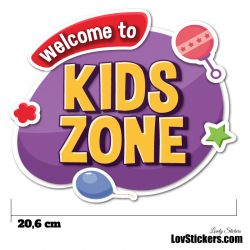 Stickers Porte Enfant - Kids Zone orange