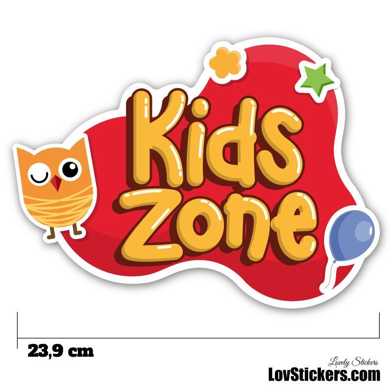 Stickers Porte Enfant - Kids Zone Rouge