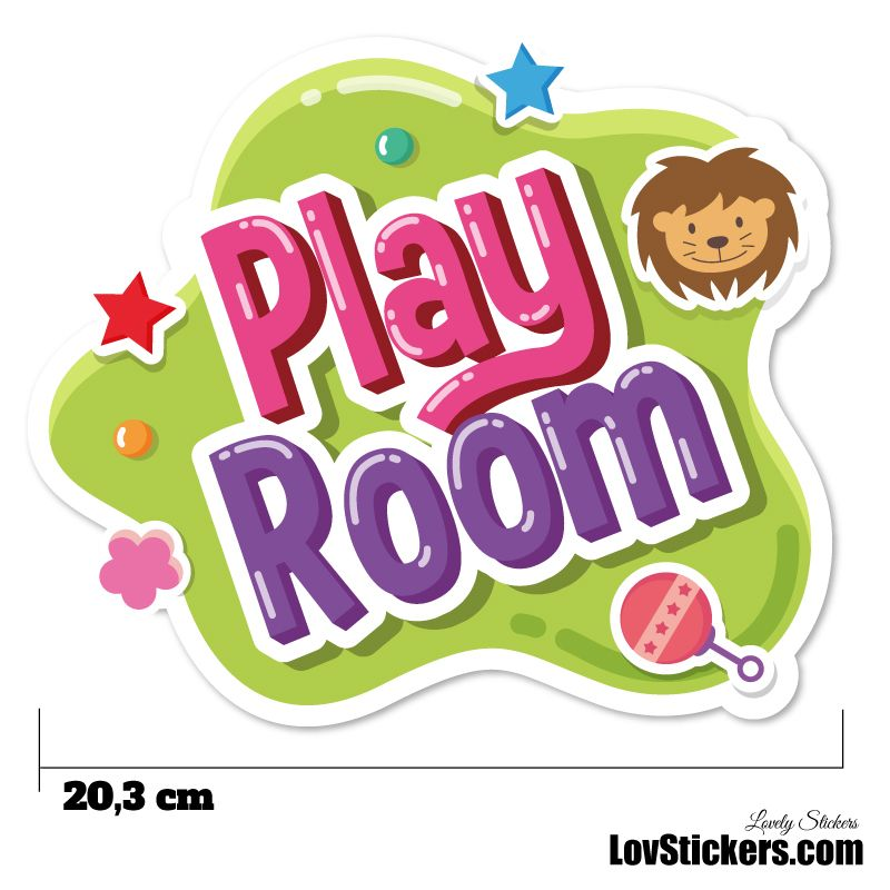 Stickers Porte Enfant - Play Room Vert