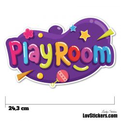 Stickers Porte Enfant - Play Room Violet