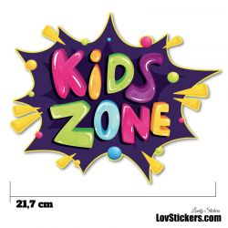Stickers Porte Enfant - Kids Zone Violet
