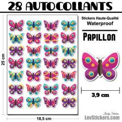 autocollants de papillons design