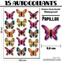 28 autocollants de papillons design 05