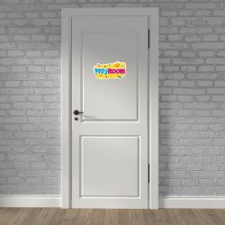 Stickers Porte Enfant - Play Room Jaune