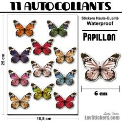 46 autocollants papillons réalistes