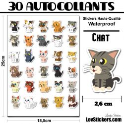 30 stickers de petits Chats 01