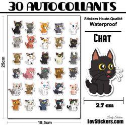 30 stickers de petits Chats 02