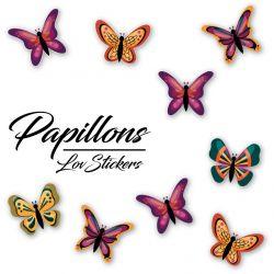 15 autocollants de papillons design 05