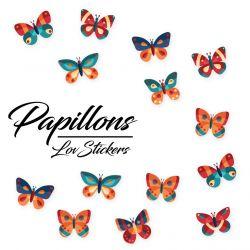 28 autocollants de papillons design 04