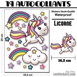 Autocollants Licorne