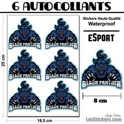 6 Stickers eSport