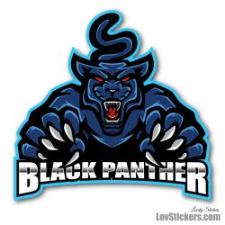 6 Stickers eSport Black Panther