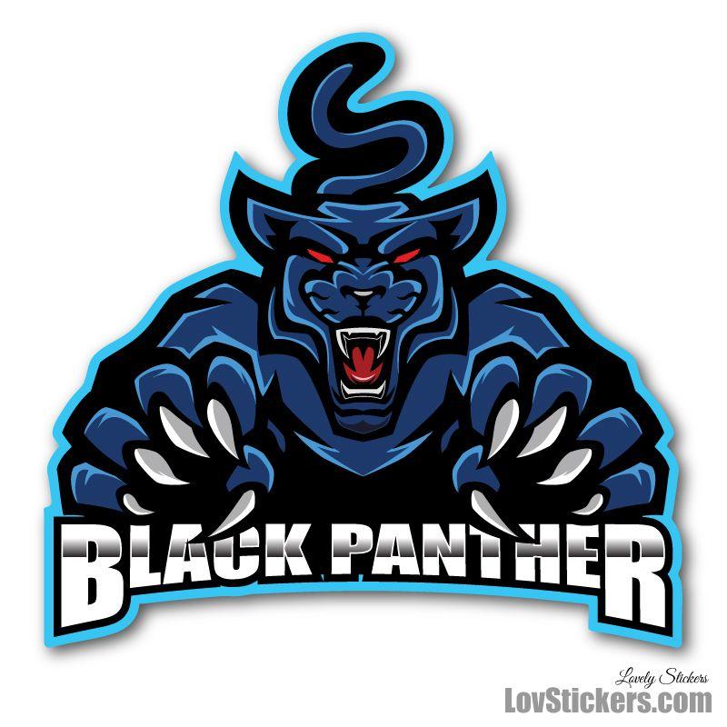 6 Stickers eSport Black Panther