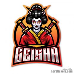 4 Stickers eSport Geisha