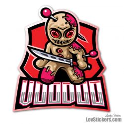 4 Stickers eSport Voodoo