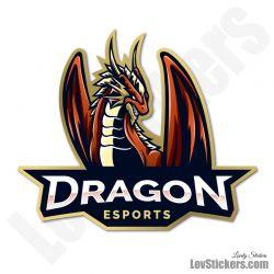 Autocollant eSport Dragon