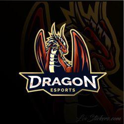 4 Stickers eSport Dragon
