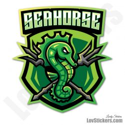 4 Stickers eSport Hippocampe