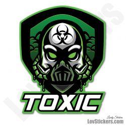 4 Stickers eSport Toxic