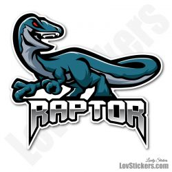 6 Stickers eSport Raptor Bleu