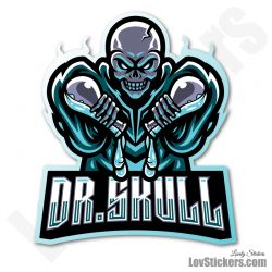 6 Stickers eSport Dr Skull