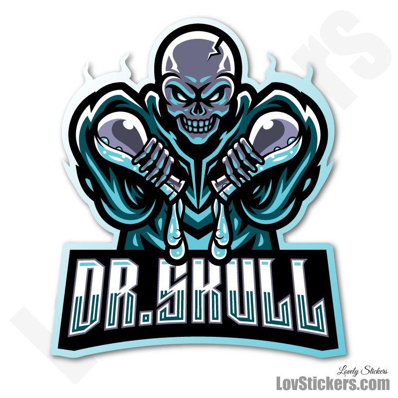 6 Stickers eSport Dr Skull